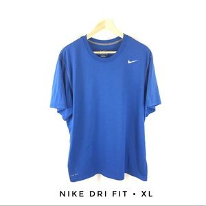 Nike Dri Fit Men's XL Blue Running Shirt Crew